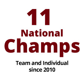 11 team and individual national championships since 2010.