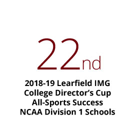 Finished 22nd in the 2018-19 Learfield IMG College Directors' Cup, measuring all-sports success among all NCAA Division I schools.